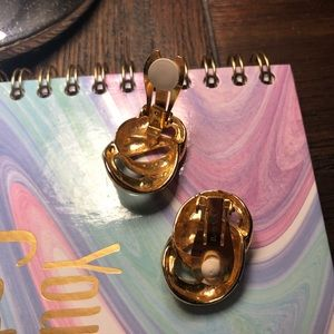 Paolo signed clip on earrings